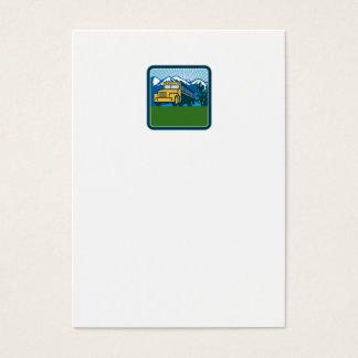 Cartão De Visitas Quadrado das montanhas do cacto do auto escolar