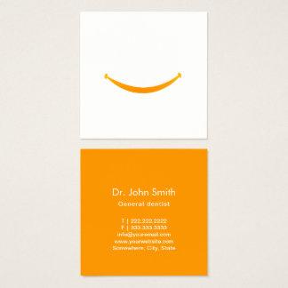 Cartão De Visitas Quadrado Dentista minimalista do sorriso grande dos