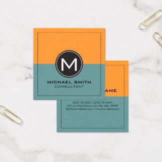 Cartão De Visitas Quadrado Desaturated moderno elegante e açafrão do