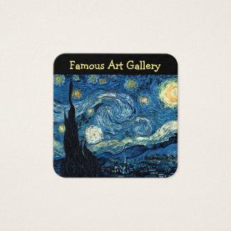 Cartão De Visitas Quadrado Design famoso da galeria de arte