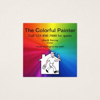 Cartão De Visitas Quadrado Design simples do pintor profissional