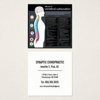 Cartão De Visitas Quadrado Efeitos do Chiropractor vertebral do Subluxation