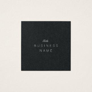 Cartão De Visitas Quadrado Élégante minimalista moderno profissional Noir