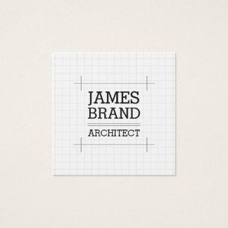Cartão De Visitas Quadrado Engenheiro do construtor do arquiteto