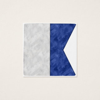 Cartão De Visitas Quadrado Escolha de 26 bandeiras marítimas náuticas da