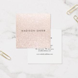Cartão De Visitas Quadrado Estilista elegante simples da beleza do brilho de