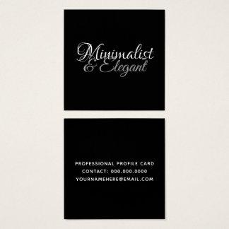 Cartão De Visitas Quadrado Estilo de pia batismal minimalista & elegante do