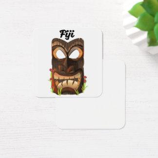 Cartão De Visitas Quadrado Fiji cinzelou a máscara