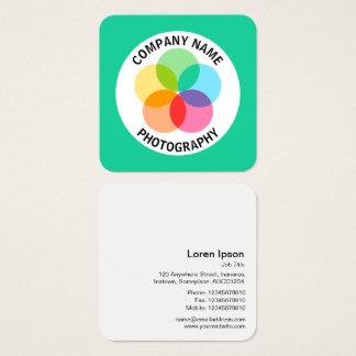 Cartão De Visitas Quadrado Flor do filtro - #19CD99 verde