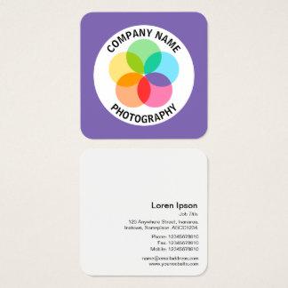 Cartão De Visitas Quadrado Flor do filtro - #7F66B2 roxo