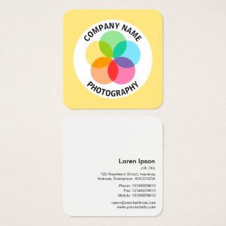 Cartão De Visitas Quadrado Flor do filtro - #FFE67F amarelo pálido