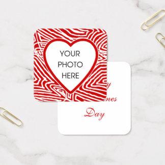 Cartão De Visitas Quadrado Foto dos namorados