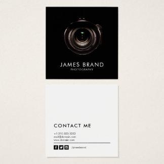 Cartão De Visitas Quadrado Fotografia preto e branco minimalista