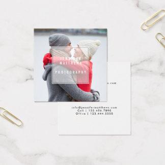 Cartão De Visitas Quadrado Fotógrafo chique mínimo da folha de prova