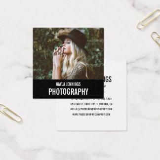 Cartão De Visitas Quadrado Fotógrafo moderno da impressão |