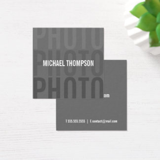 Cartão De Visitas Quadrado Fotógrafo moderno profissional