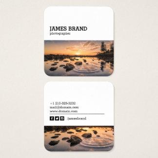 Cartão De Visitas Quadrado Fotógrafo social da fotografia dos meios