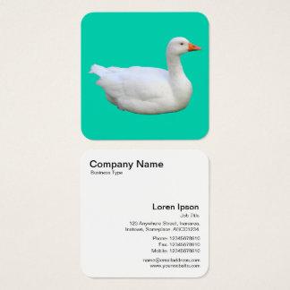 Cartão De Visitas Quadrado Ganso branco