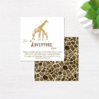 Cartão De Visitas Quadrado Girafa do chá de fraldas do menino do cerco da
