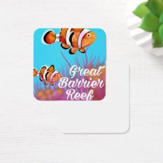 Cartão De Visitas Quadrado Grande poster dos desenhos animados dos peixes do