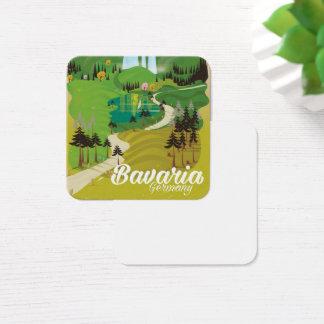 Cartão De Visitas Quadrado Impressão do viagem da paisagem de Baviera