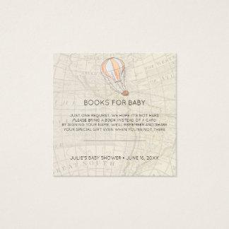 Cartão De Visitas Quadrado Inserção do chá de fraldas do balão de ar quente