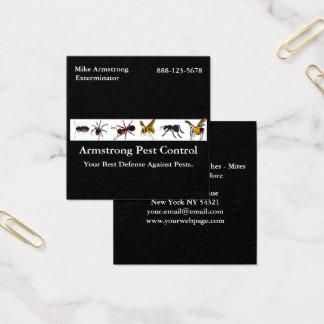 Cartão De Visitas Quadrado Insetos dos insetos do controlo de pragas do