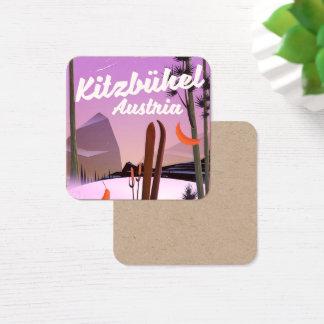Cartão De Visitas Quadrado Kitzbühel Áustria
