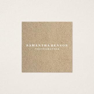 Cartão De Visitas Quadrado Kraft rústico minimalista profissional moderno