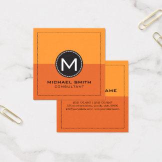 Cartão De Visitas Quadrado Laranja e açafrão modernos elegantes da cenoura do