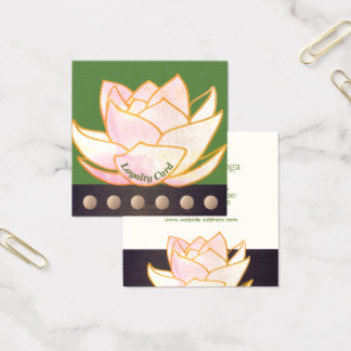 Cartão De Visitas Quadrado Lealdade cor-de-rosa do perfurador da mandala 6 de