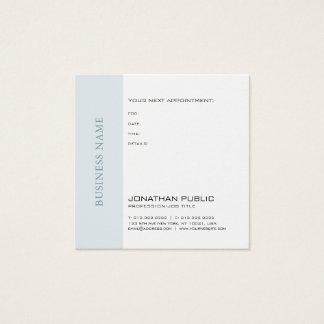 Cartão De Visitas Quadrado Lembrete do doutor Dentista Terapeuta Chique