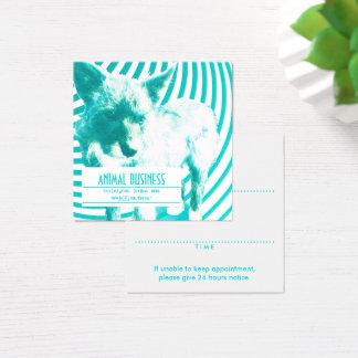 Cartão De Visitas Quadrado lembrete louco quadrado da nomeação do animal de