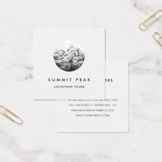 Cartão De Visitas Quadrado Logotipo da montanha da aguarela