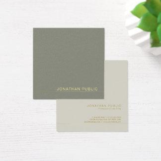 Cartão De Visitas Quadrado Luxo verde elegante de tensão moderno do