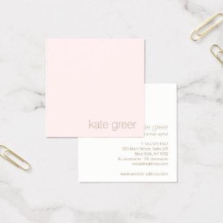 Cartão De Visitas Quadrado Luz minimalista moderna - beleza cor-de-rosa