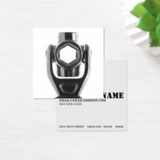 Cartão De Visitas Quadrado Mecânico quadrado da chave de soquete & negócio do