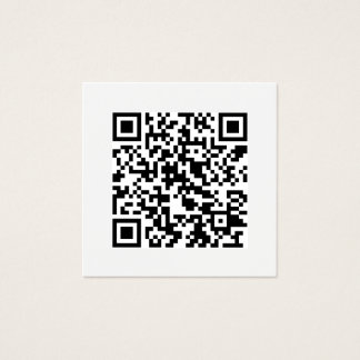 Cartão De Visitas Quadrado Meios sociais mínimos do código de QR modernos