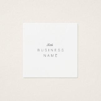 Cartão De Visitas Quadrado Minimaliste profissional Élégante Noir e Blanc
