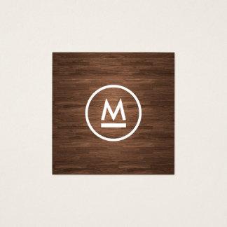 Cartão De Visitas Quadrado Monograma moderno inicial grande no quadrado da