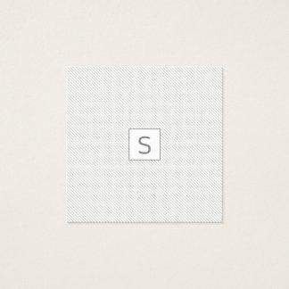 Cartão De Visitas Quadrado MONOGRAMA simples moderno minimalista do teste