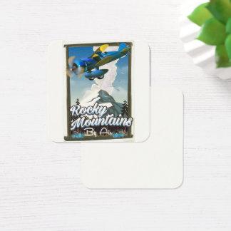 Cartão De Visitas Quadrado Montanhas rochosas pelo ar!