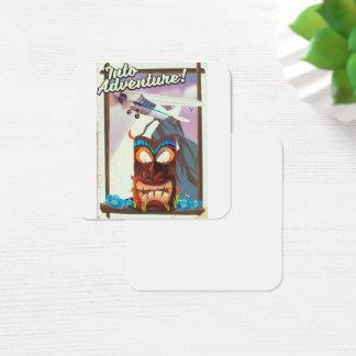 Cartão De Visitas Quadrado na aventura!
