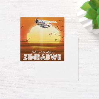 Cartão De Visitas Quadrado Na aventura! Poster de viagens de Zimbabwe