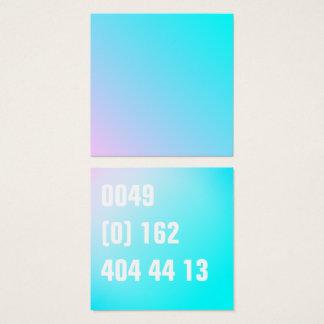 Cartão De Visitas Quadrado Número de telefone Pastel do inclinação do verão