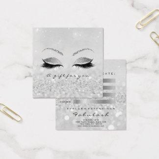 Cartão De Visitas Quadrado O brilho da prata do certificado de presente