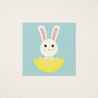 Cartão De Visitas Quadrado O coelhinho da Páscoa mim