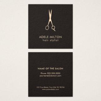 Cartão De Visitas Quadrado O rosa elegante minimalista da obscuridade Scissor