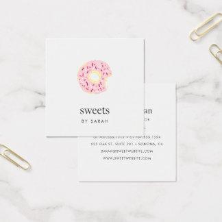 Cartão De Visitas Quadrado O rosa polvilha a filhós