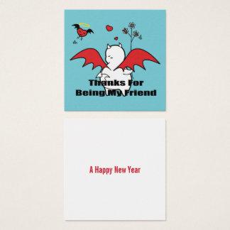 Cartão De Visitas Quadrado Obrigados de DBY para ser meu amigo